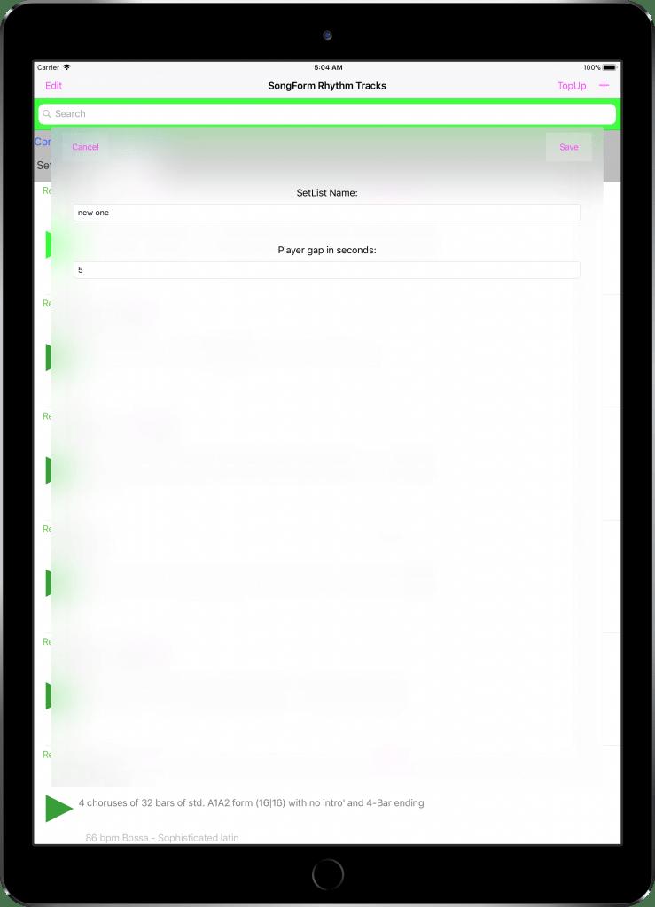 En 美国 IPad Pro 12.9 英寸 04 SetListConfigScreen 框