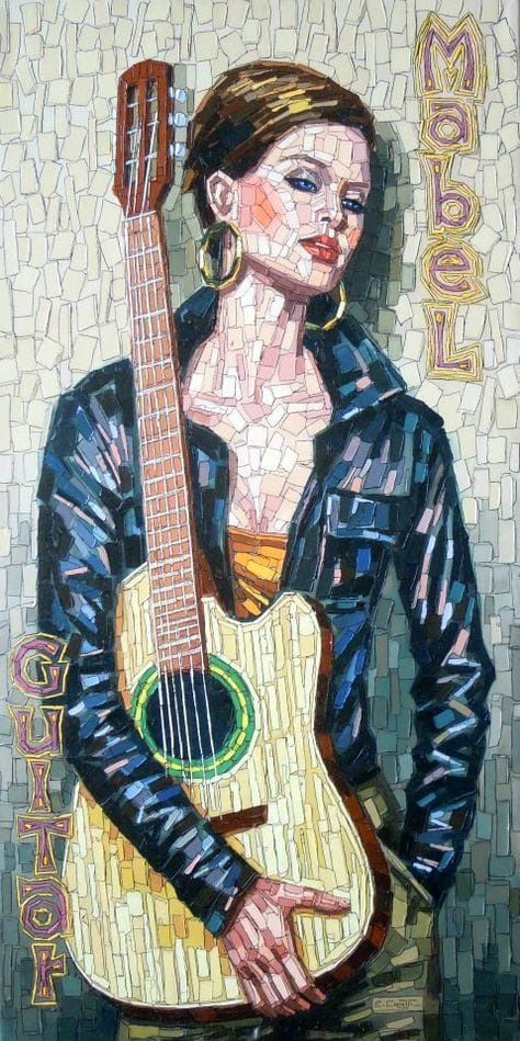 mozaic guitar poster