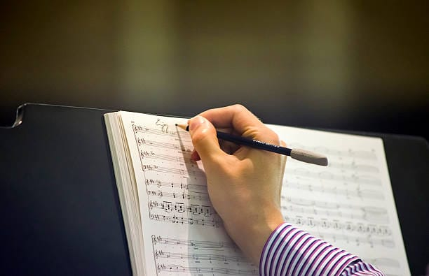 writing on a score